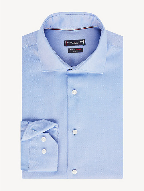 TOMMY HILFIGER TH Flex Collar Slim Fit Shirt - NAVY - TOMMY HILFIGER Something Special - main image