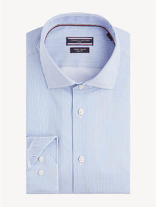 TOMMY HILFIGER TH Flex Collar Slim Fit Shirt - PASTEL BLUE - TOMMY HILFIGER Formal Shirts - main image