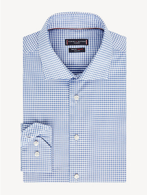 TOMMY HILFIGER TH Flex Collar Check Slim Fit Shirt - DUTCH BLUE - TOMMY HILFIGER Formal Shirts - main image