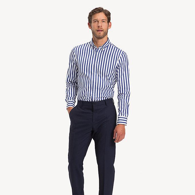 cd179c303f7 Bold Stripe Slim Fit Shirt | INDIGO BLUE | Tommy Hilfiger