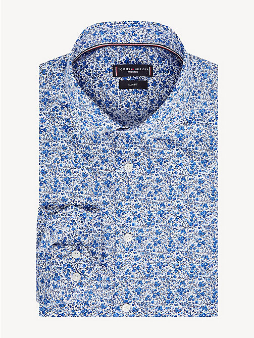 TOMMY HILFIGER Floral Print Slim Fit Shirt - MULTI BLUE - TOMMY HILFIGER Formal Shirts - main image
