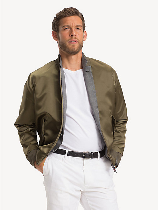 TOMMY HILFIGER Sateen Bomber Jacket - PINE - TOMMY HILFIGER Bomber Jackets - main image