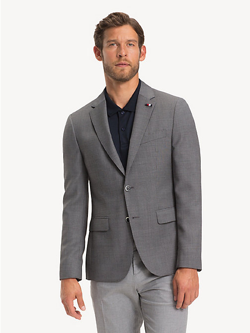 TOMMY HILFIGER Virgin Wool Slim Fit Blazer - CLOUDBURST - TOMMY HILFIGER NEW IN - main image