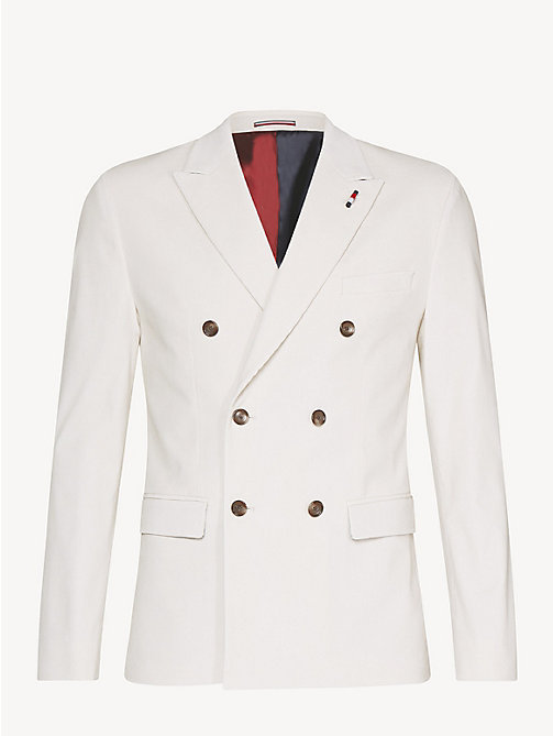 TOMMY HILFIGER Stretch Corduroy Slim Fit Blazer - OFF WHITE - TOMMY HILFIGER NEW IN - detail image 1