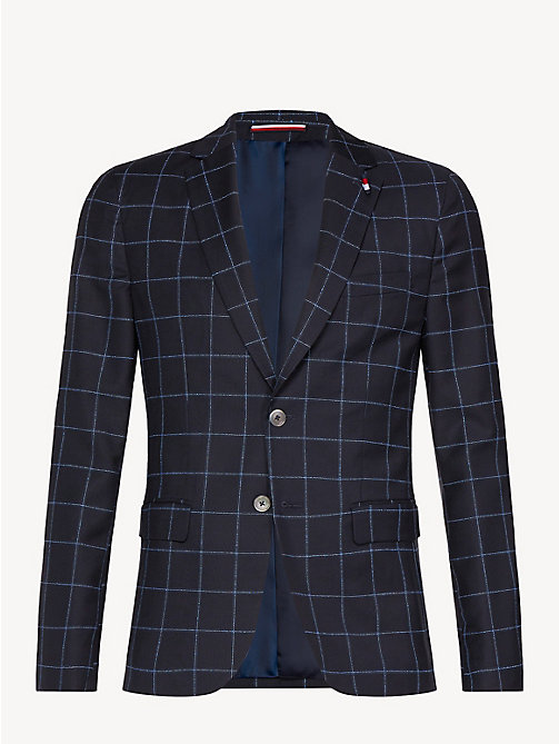 TOMMY HILFIGER Check Virgin Wool Blazer - SKY CAPTAIN - TOMMY HILFIGER Something Special - detail image 1