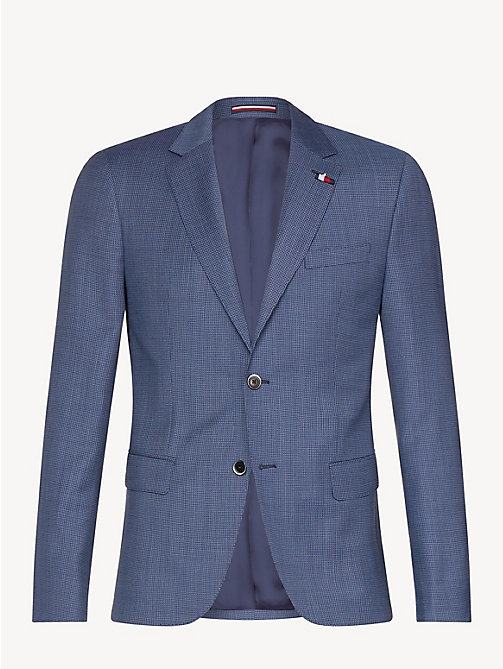 TOMMY HILFIGER Macro Check Virgin Wool Blazer - DUTCH BLUE - TOMMY HILFIGER Something Special - detail image 1