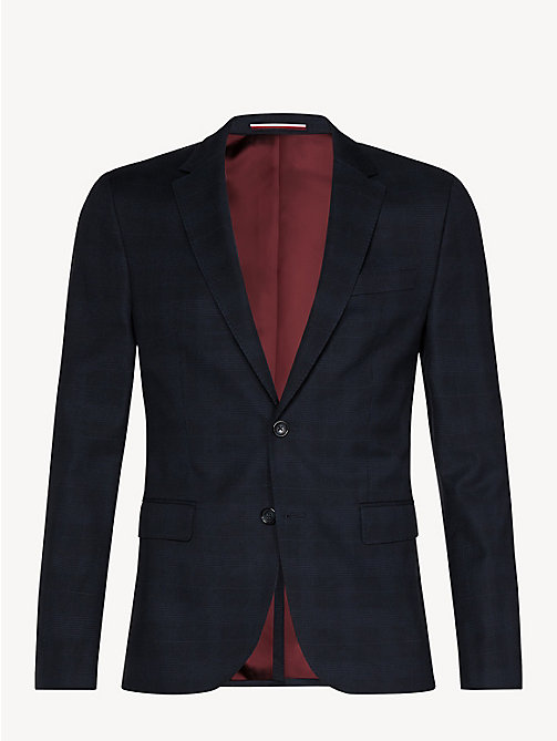 TOMMY HILFIGER Slim fit blazer met Glen-ruit - MIDNIGHT BLUE - TOMMY HILFIGER NIEUW - detail image 1