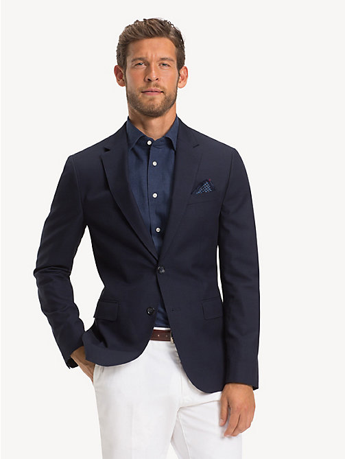 TOMMY HILFIGER Glen Check Slim Fit Blazer - MIDNIGHT BLUE - TOMMY HILFIGER NEW IN - main image