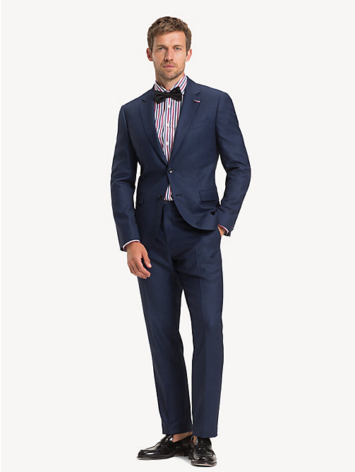 TOMMY HILFIGER TH Flex Wool Regular Fit Suit - MEDIVAL BLUE - TOMMY HILFIGER Suits - main image