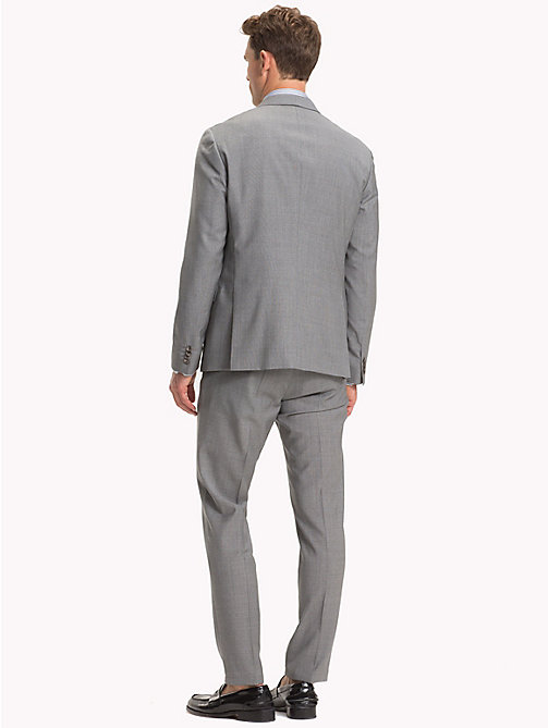 TOMMY HILFIGER TH Flex Wool Slim Fit Suit - SILVER GREY - TOMMY HILFIGER Suits - detail image 1