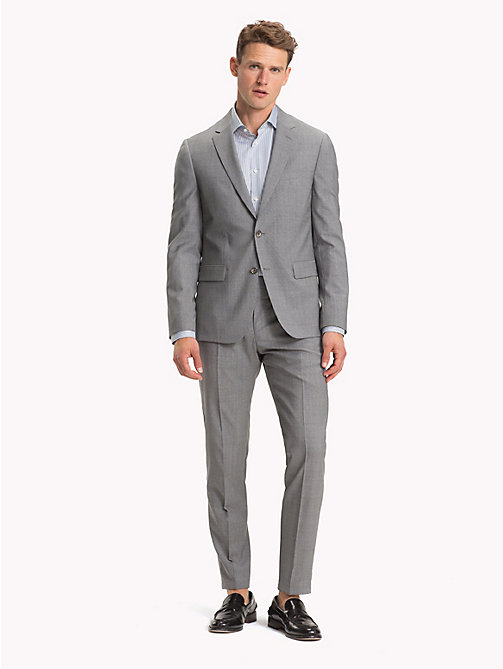 TOMMY HILFIGER TH Flex Wool Slim Fit Suit - SILVER GREY - TOMMY HILFIGER Suits - main image