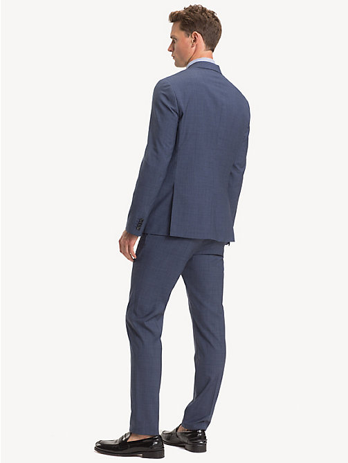 TOMMY HILFIGER TH Flex Wool Slim Fit Suit - DENIM BLUE - TOMMY HILFIGER Suits - detail image 1