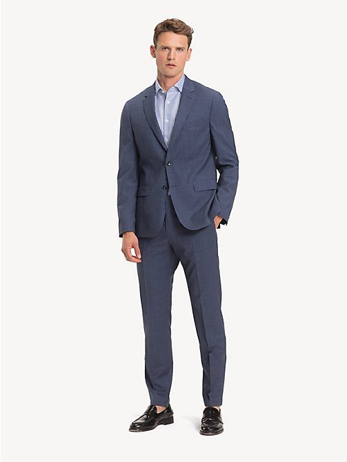TOMMY HILFIGER TH Flex Wool Slim Fit Suit - DENIM BLUE - TOMMY HILFIGER Suits - main image
