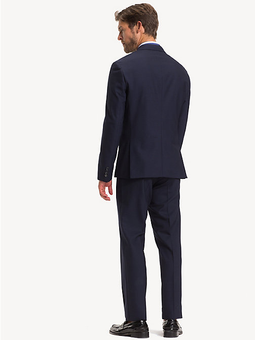 TOMMY HILFIGER TH Flex Slim Fit Wool Suit - MIDNIGHT BLUE - TOMMY HILFIGER Suits - detail image 1