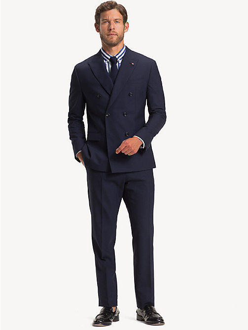 TOMMY HILFIGER TH Flex Slim Fit Wool Suit - MIDNIGHT BLUE - TOMMY HILFIGER Suits - main image