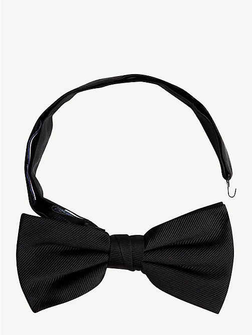 TOMMY HILFIGER Pure Silk Adjustable Bow Tie - BLACK - TOMMY HILFIGER Stocking Stuffers - main image