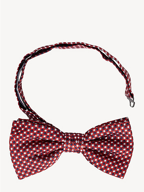 TOMMY HILFIGER Silk Abstract Pattern Bow Tie - RED - TOMMY HILFIGER NEW IN - main image
