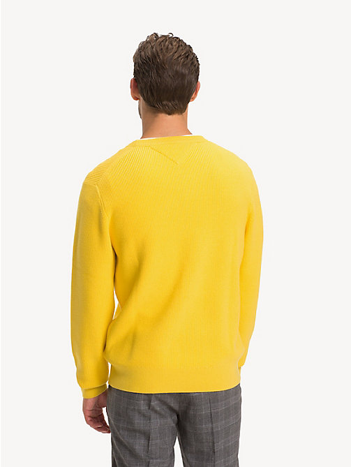 TOMMY HILFIGER Crew Neck Jumper - YELLOW - TOMMY HILFIGER Jumpers - detail image 1