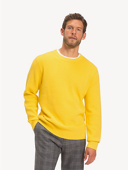 TOMMY HILFIGER Crew Neck Jumper - YELLOW - TOMMY HILFIGER Jumpers - main image