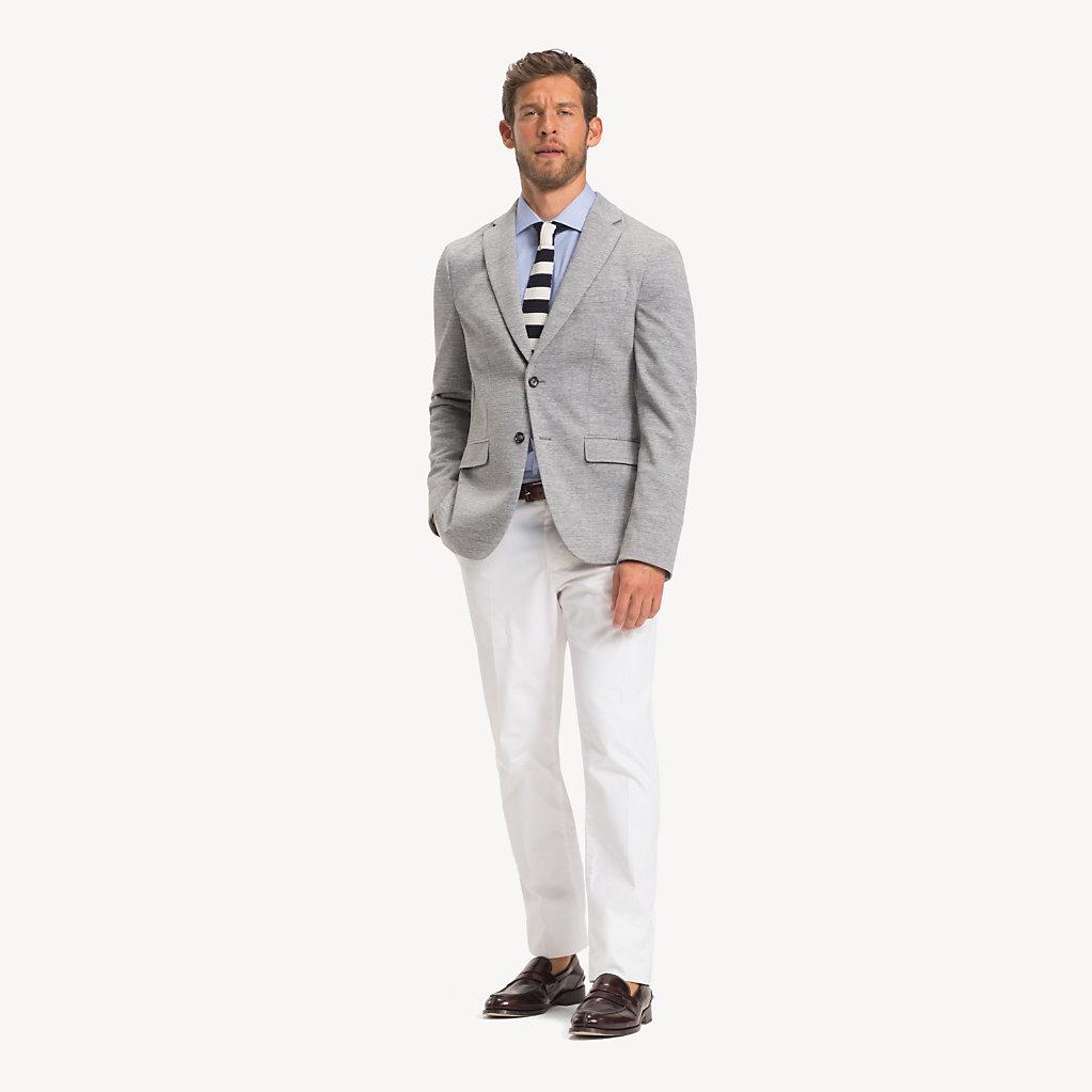 Tommy Hilfiger - Americana de algodón y corte slim - 3