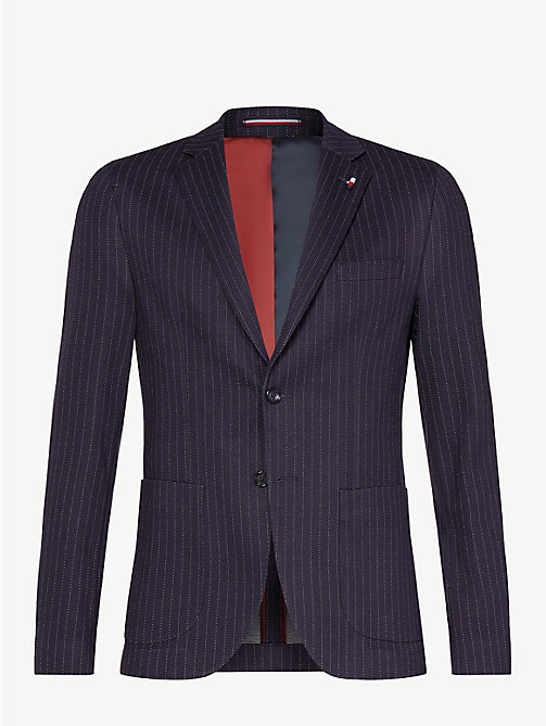 TOMMY HILFIGER Pinstripe Jersey Slim Fit Blazer - MIDNIGHT BLUE - TOMMY HILFIGER Something Special - detail image 1