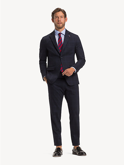 TOMMY HILFIGER TH Flex slim fit pak met ruitprint - MIDNIGHT BLUE - TOMMY HILFIGER Pakken - main image