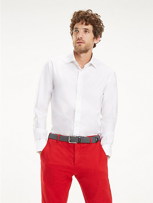 TOMMY HILFIGER Wide-Spread Collar Shirt - WHITE - TOMMY HILFIGER Formal Shirts - detail image 1