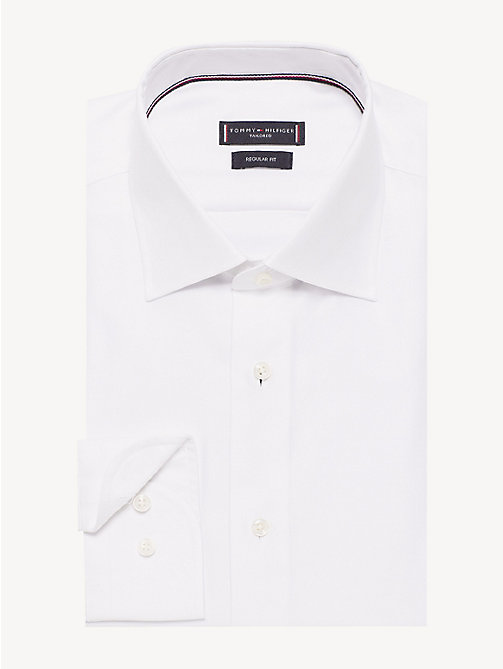 TOMMY HILFIGER Wide-Spread Collar Shirt - WHITE - TOMMY HILFIGER Formal Shirts - main image