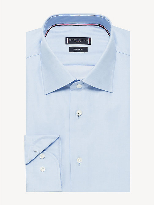 TOMMY HILFIGER Wide-Spread Collar Shirt - DARK LAVENDER - TOMMY HILFIGER Formal Shirts - main image