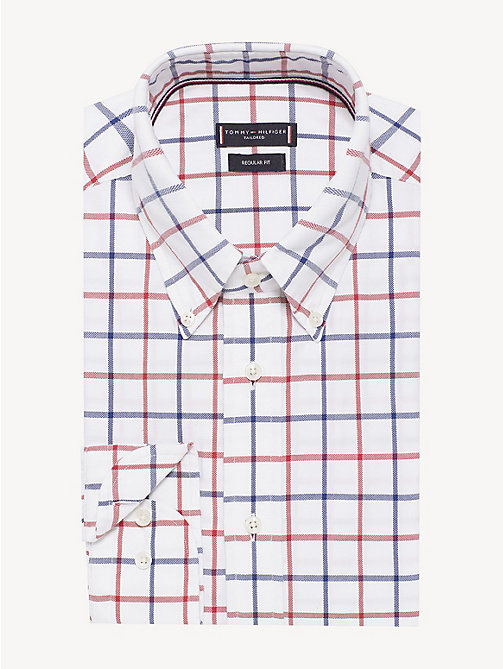 TOMMY HILFIGER Washed Check Button Down Shirt - WHITE MULTI - TOMMY HILFIGER Formal Shirts - main image
