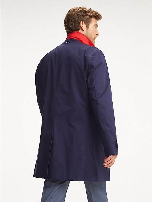 TOMMY HILFIGER Shawl Collar Car Coat - NAVY BLAZER - TOMMY HILFIGER Coats & Jackets - detail image 1