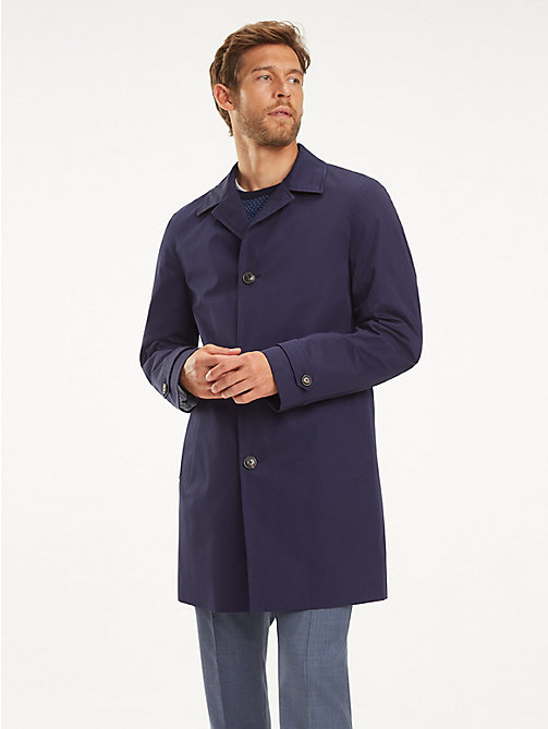TOMMY HILFIGER Shawl Collar Car Coat - NAVY BLAZER - TOMMY HILFIGER Coats & Jackets - main image