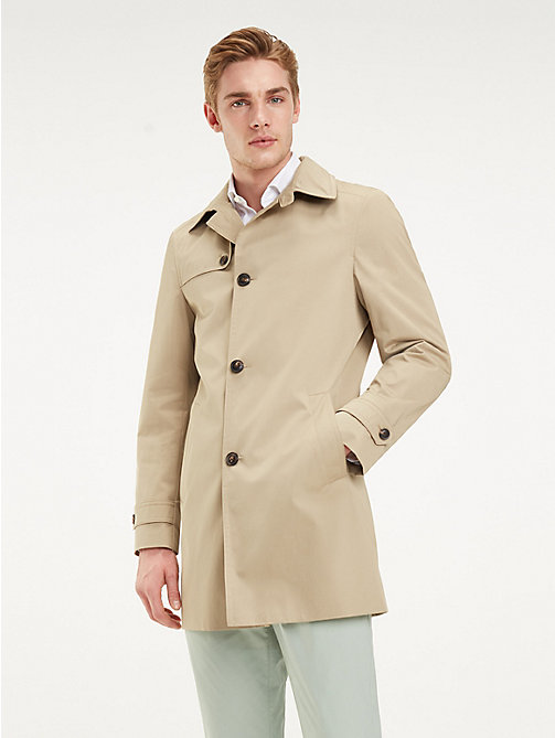 TOMMY HILFIGER Point Collar Utility Coat - BEIGE - TOMMY HILFIGER Coats & Jackets - main image