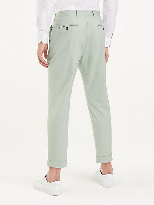 TOMMY HILFIGER TH Flex Tapered Trousers - MINT GREEN - TOMMY HILFIGER Formal Trousers - detail image 1