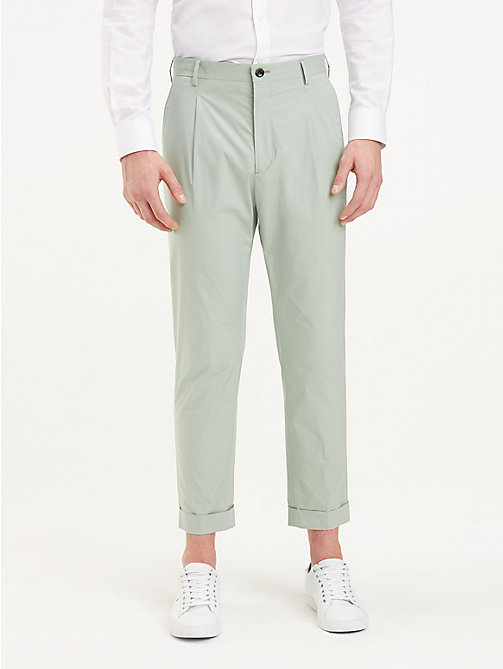 TOMMY HILFIGER TH Flex Tapered Trousers - MINT GREEN - TOMMY HILFIGER Formal Trousers - main image