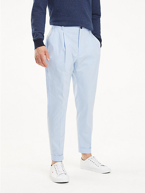 TOMMY HILFIGER TH Flex Tapered Trousers - HEATHER BLUE - TOMMY HILFIGER Formal Trousers - main image