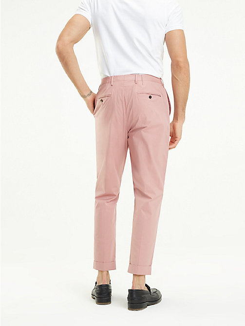 TOMMY HILFIGER TH Flex Tapered Trousers - POWDER PINK - TOMMY HILFIGER Formal Trousers - detail image 1