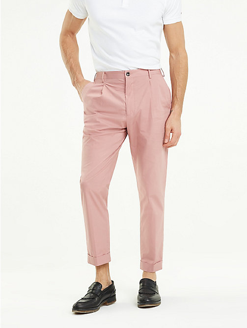 TOMMY HILFIGER TH Flex Tapered Trousers - POWDER PINK - TOMMY HILFIGER Formal Trousers - main image