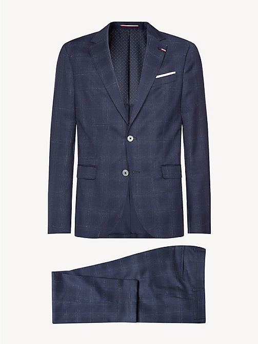 TOMMY HILFIGER Check 2-Piece Virgin Wool Suit - MEDIVAL BLUE - TOMMY HILFIGER Fitted - detail image 1