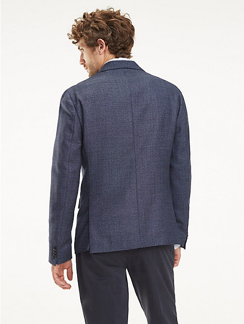 TOMMY HILFIGER Slim Fit Virgin Wool Blazer - SKY CAPTAIN - TOMMY HILFIGER Blazers - detail image 1