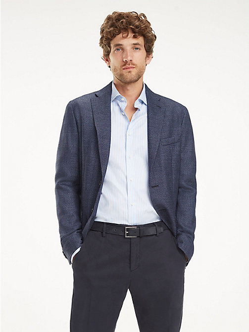 TOMMY HILFIGER Slim Fit Virgin Wool Blazer - SKY CAPTAIN - TOMMY HILFIGER Blazers - main image