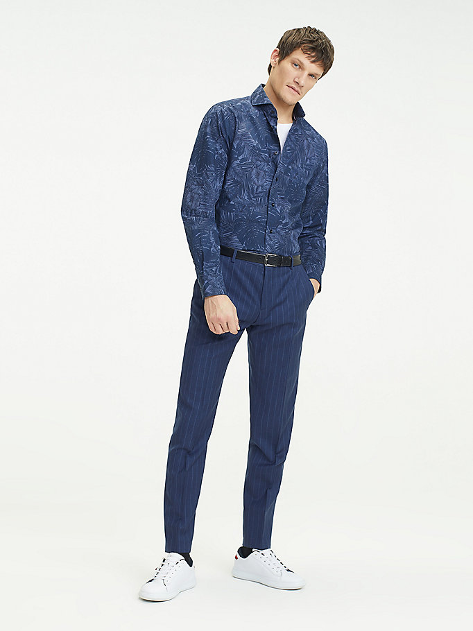 Slim Fit Hemd mit Washed Print
