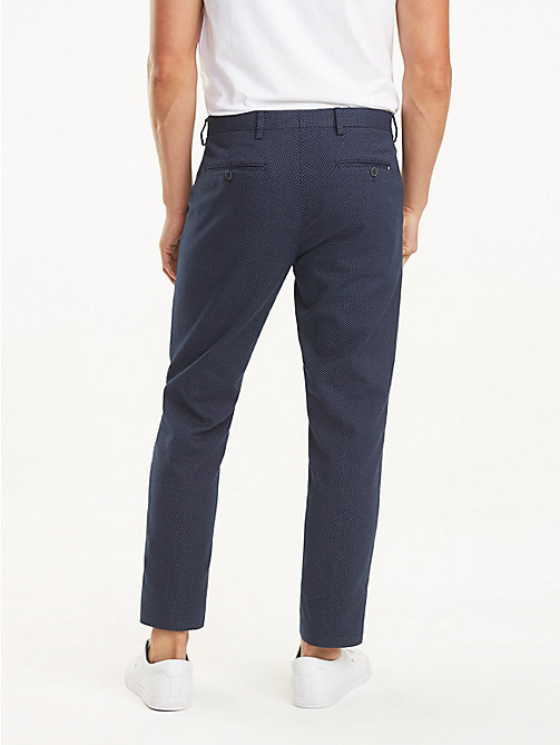 TOMMY HILFIGER Stretch Cotton Slim Fit Trousers - SKY CAPTAIN - TOMMY HILFIGER Formal Trousers - detail image 1