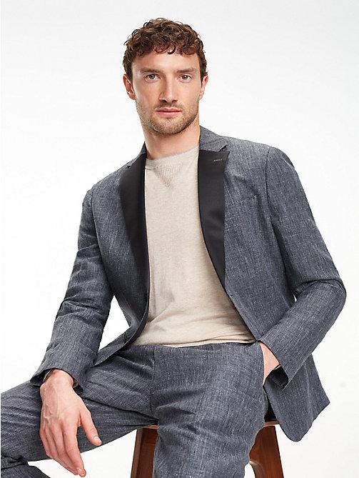 023946e9bb2 TOMMY HILFIGERSlim Fit Linen Tuxedo Suit