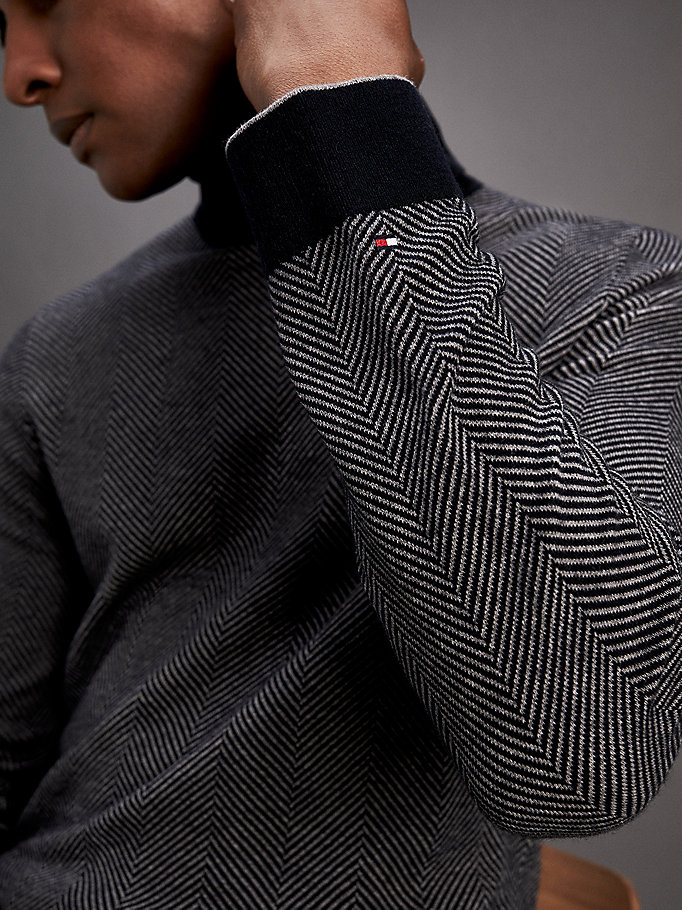design senza tempo 165bd 168f2 Dolcevita in misto lana | JET BLACK | Tommy Hilfiger