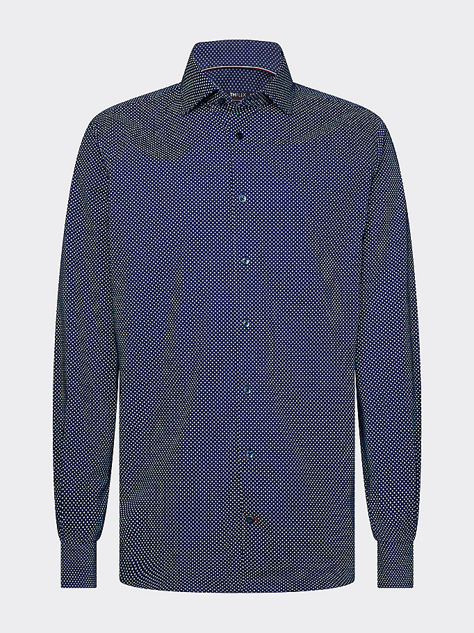blue th flex slim fit shirt for men tommy hilfiger