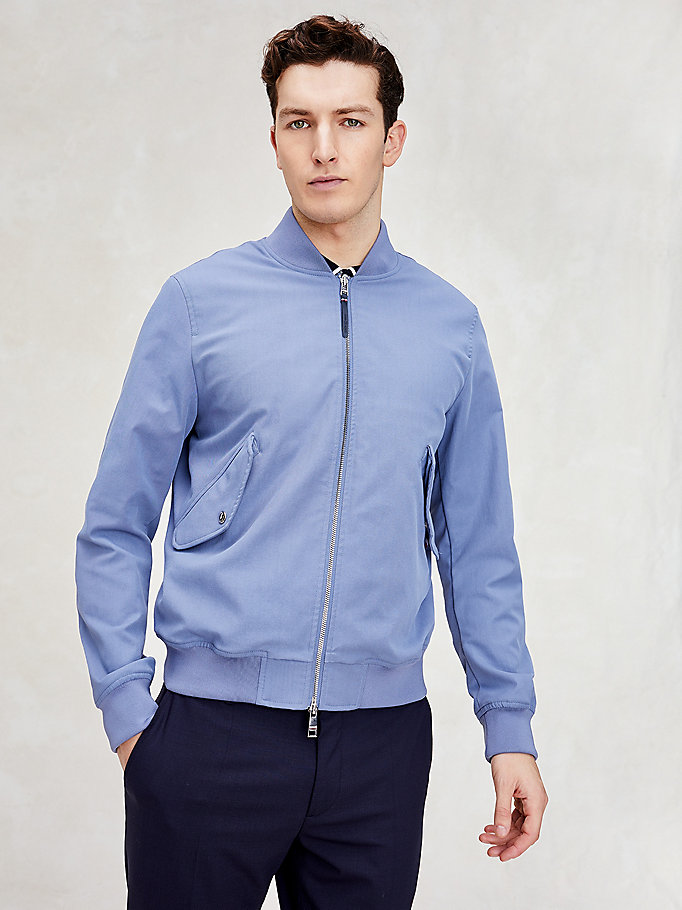 bomber th cool blu da men tommy hilfiger