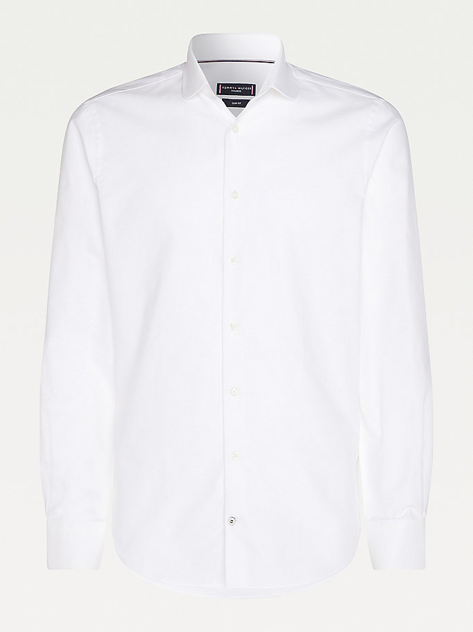 white club collar slim fit shirt for men tommy hilfiger