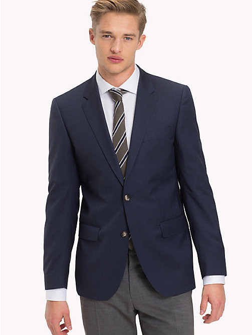 TOMMY HILFIGER Pure Virgin Wool Two Button Jacket - 019 - TOMMY HILFIGER Suit Separates - main image