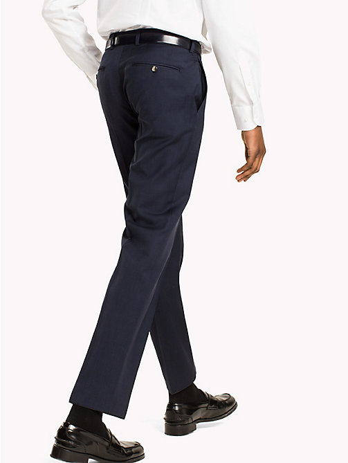TOMMY HILFIGER Virgin Wool Fitted Trousers - 019 - TOMMY HILFIGER Suit Separates - detail image 1